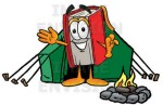 sym_book_cartoon_character_camping_with_a_tent_and_fire