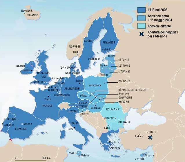 Cartina Europa In Inglese.Inglese Francese E Tedesco Famiglie D Italia